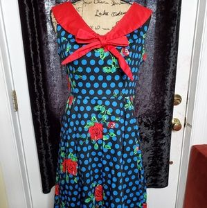hearts & roses vintage style dress